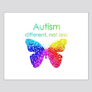 Autism Butterfly, different, not less Posters