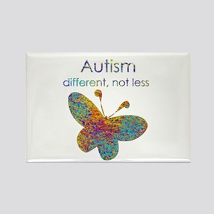 Autism: different, not less Rectangle Magnet