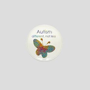 Autism: different, not less Mini Button