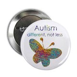 Autism different not less pin 10 Pack