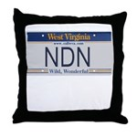West Virginia NDN Pride Throw Pillow