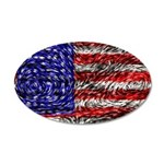 Van Gogh's Flag of the US 35x21 Oval Wall Decal