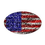 Van Gogh's Flag of the US 20x12 Oval Wall Decal