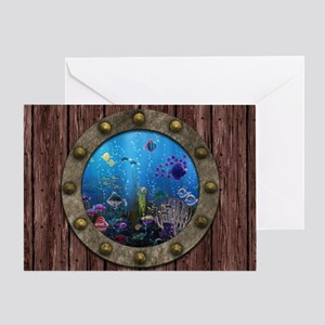 Underwater Love Porthole Greeting Card