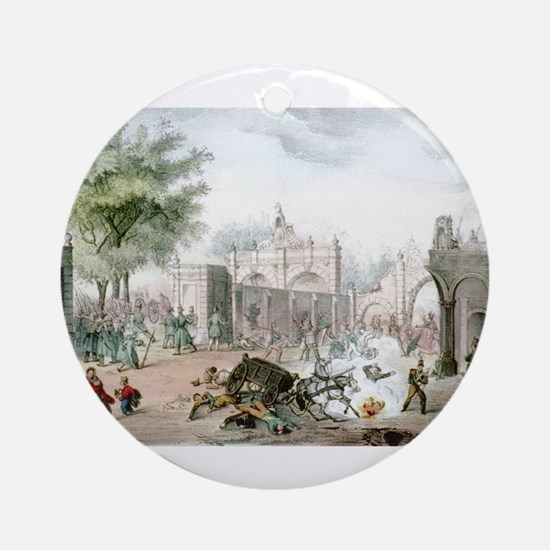 Gate of Belen Mexico - 1848 Round Ornament