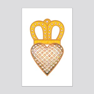 The Hearts Crown Mini Poster Print
