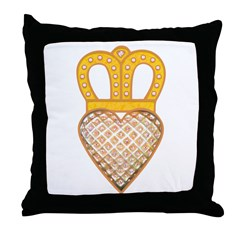 The Hearts Crown Throw Pillow
