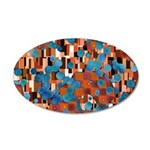 Klimtified! - Rust/Turquoise 35x21 Oval Wall Decal