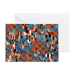 Klimtified! - Rust/Turquoise Greeting Card
