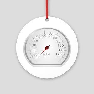 White Speedometer Ornament (Round)
