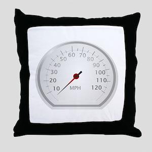 White Speedometer Throw Pillow