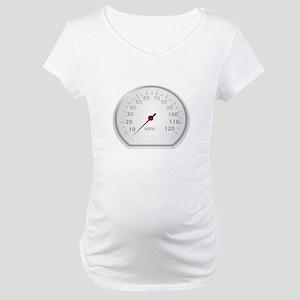 White Speedometer Maternity T-Shirt
