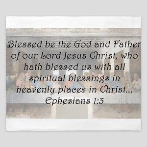 Ephesians 1:3 King Duvet