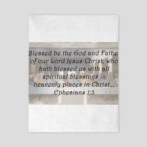 Ephesians 1:3 Twin Duvet