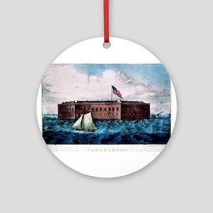 Fort Sumter - Charleston Harbor, S.C. - 1870 Round