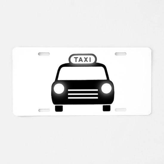 Cartoon Taxi Cab Aluminum License Plate