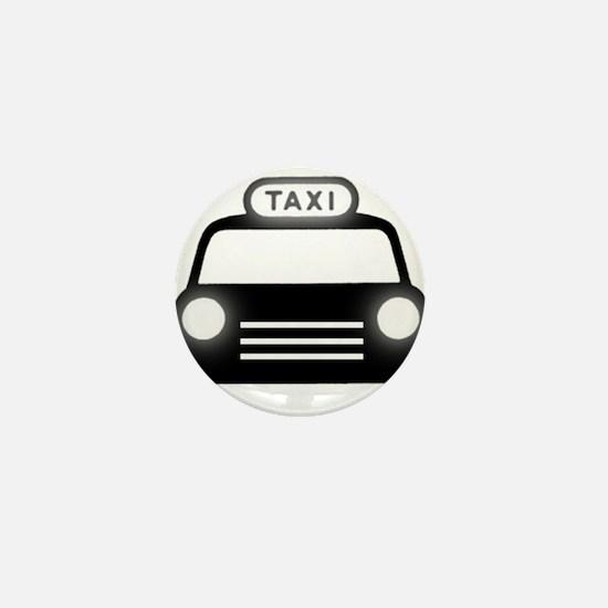 Cartoon Taxi Cab Mini Button