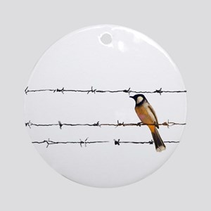 Bird on a Wire Ornament (Round)