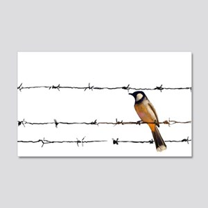 Bird on a Wire 20x12 Wall Decal
