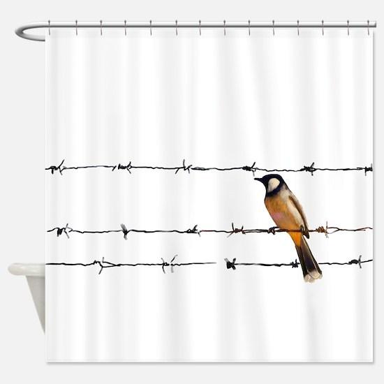 Bird on a Wire Shower Curtain