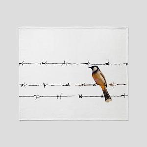 Bird on a Wire Throw Blanket