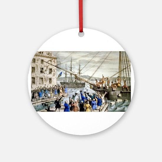 Destruction of tea at Boston Harbor - 1846 Round O