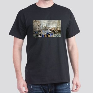 Destruction of tea at Boston Harbor - 1846 T-Shirt
