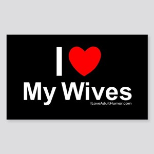 My Wives Sticker (Rectangle)