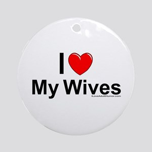 My Wives Ornament (Round)