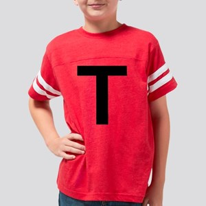 T Black Youth Football Shirt
