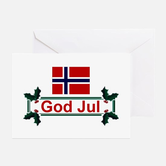 Norway God Jul Greeting Cards (Pk of 10)