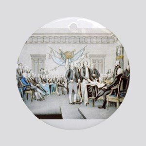 Declaration of Independence - 1856 Round Ornament