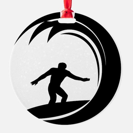 tribal surfing design Round Ornament