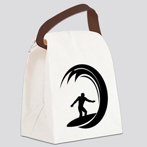 tribal surfing design Canvas Lunch Bag