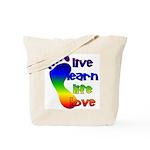 Live, Learn, Life, Love,Tote Bag