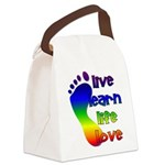 Live, Learn, Life, Love, Canvas Lunch Bag