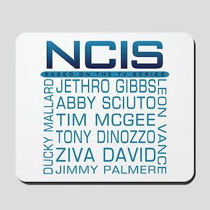 NCIS Logo & Characters Names Mousepad