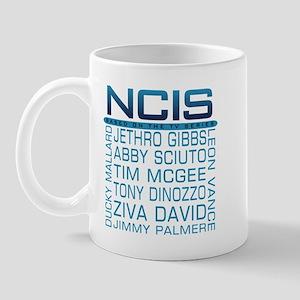 NCIS Logo & Characters Names Mug