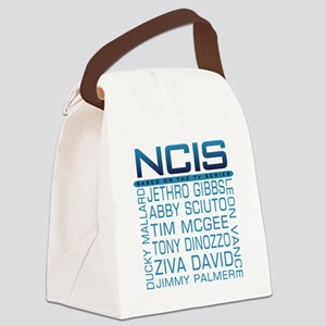 NCIS Logo & Characters Names Canvas Lunch Bag
