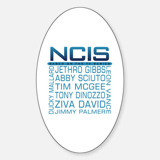 NCIS Logo & Characters Names Sticker (Oval)