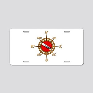 Dive Compass Aluminum License Plate