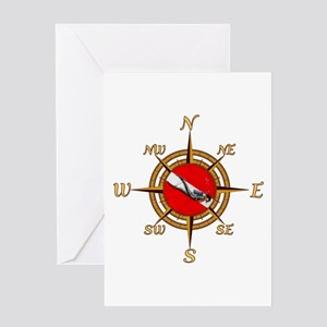 Dive Compass Greeting Card