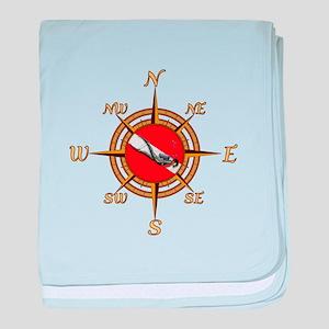 Dive Compass baby blanket