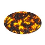 Hot Lava 35x21 Oval Wall Decal