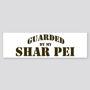 Shar Pei: Guarded by Bumper Sticker