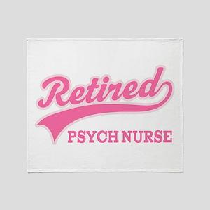 Retired Psych Nurse Throw Blanket