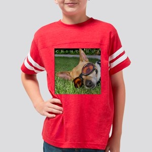 CHIHUAHUA_GLASSES_FRAME Youth Football Shirt