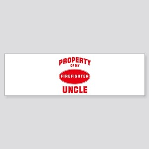 UNCLE Firefighter-Property Bumper Sticker