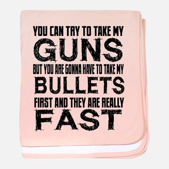 Fast Bullets baby blanket