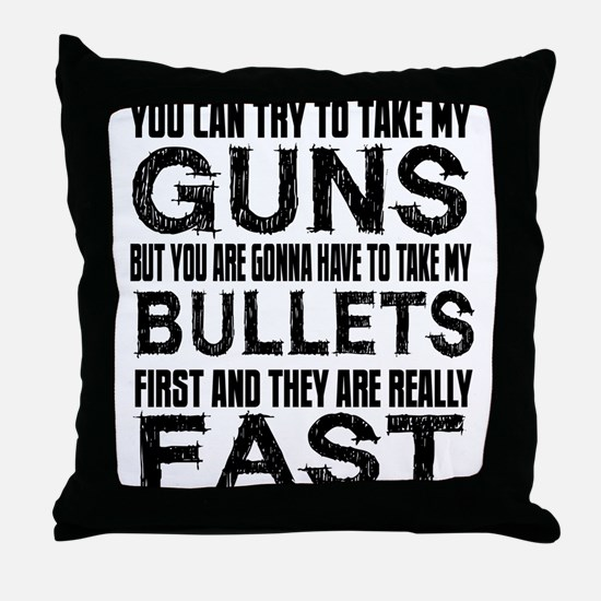 Fast Bullets Throw Pillow